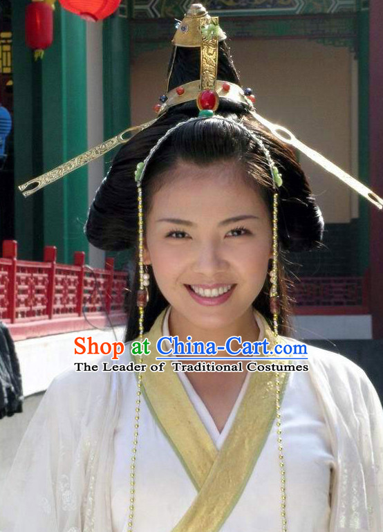 Traditional Ancient Asian Chinese Style Princess Hair Accessories Hairpin Headwear Complete Set