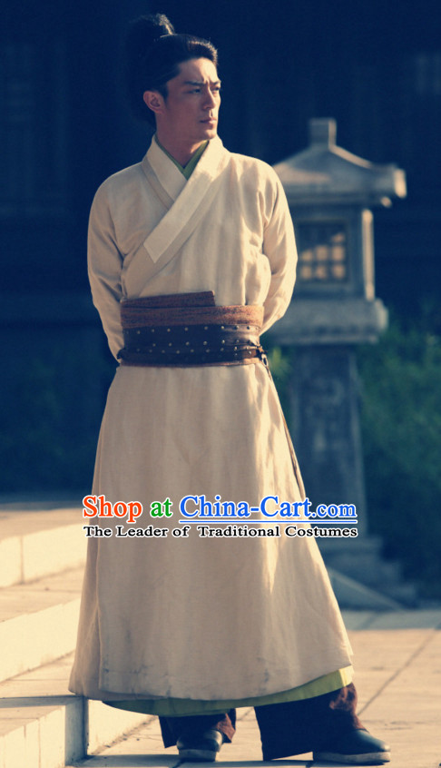 Traditional Chinese Ancien Kung Fu Uniform Robe Costume Complete Set for Men