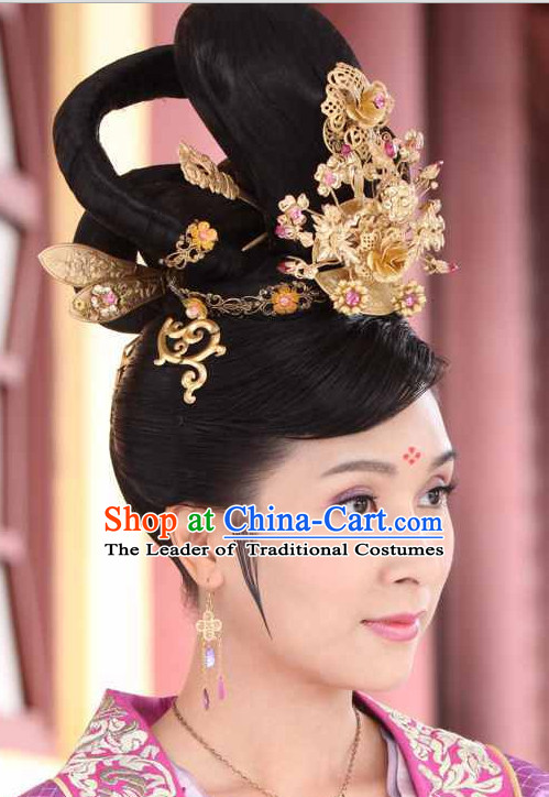 Traditional Ancient Chinese Style Imperial Palace Royal Headpieces Hair Jewelry for Women and Girls