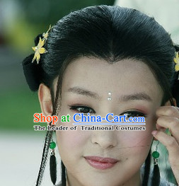 Chinese Traditional Style Long Black Full Wig for Women