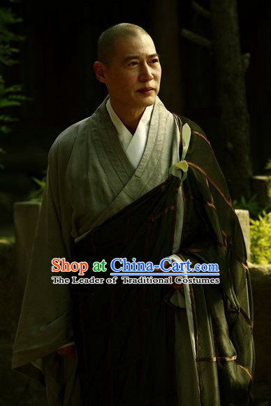 Traditional Chinese Ancient Monk Male Suits Complete Set