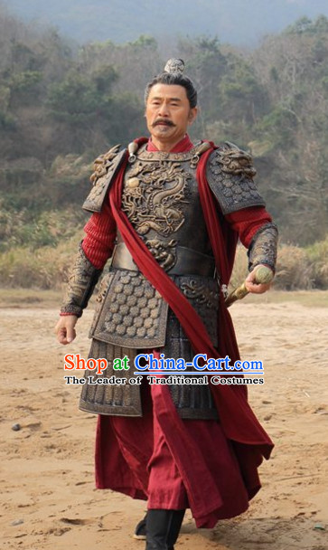 Traditional Chinese Ancient Fighter Body Armor Men Suit Complete Set