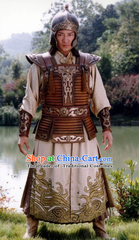 Traditional Chinese Ancient Ethnic Emperor Costumes Clothes Complete Set for Men