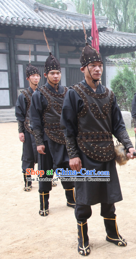 Traditional Chinese Ancient Warrior Costume Complete Set for Men