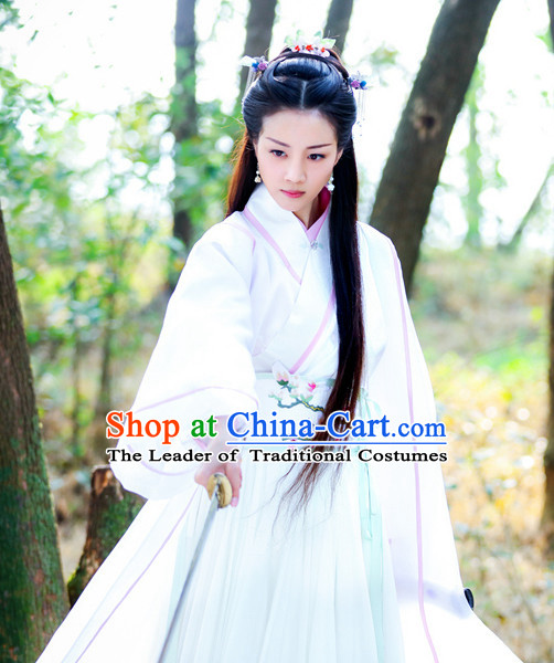 Traditional Chinese Ancient Female Fairy Costumes Complete Set