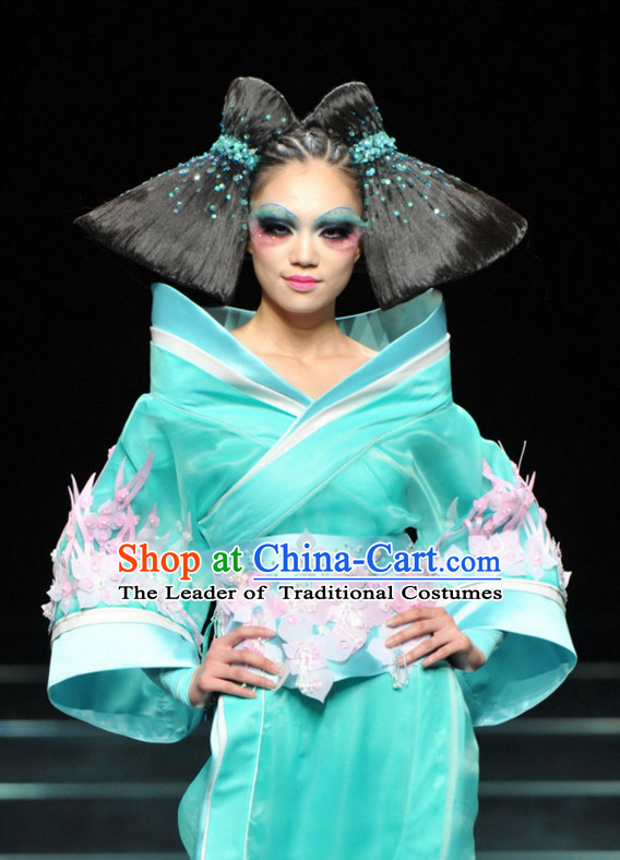 Asian Chinese Fashion Custom Tailored Custom Make Made to Order Chinese Style Fantasy Custom Made Professional Stage Performance Wig