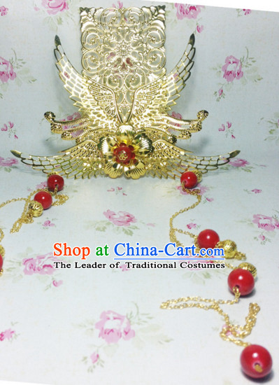 Ancient Chinese Imperial Royal Prince Hair Jewelry Crown