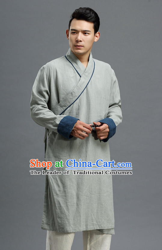 Asian Chinese Traditional Style Mandarin Long Coat for Men or Boys