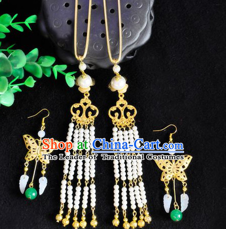 Chinese Traditional Ancient Imperial Empress Earrings and Hairpins