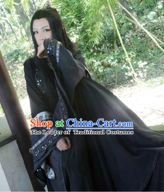 Black Ancient Chinese Style Hanfu Lady Clothes Complete Set