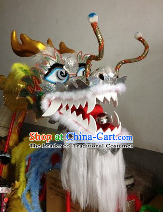 Traditional Chinese Silver Color Dragon Dance Head