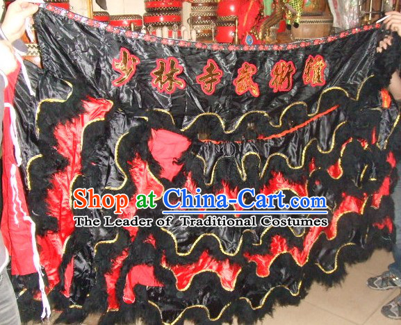 Chinese Traditional 100_ Natural Long Wool Lion Body Costume Pants Claws Set