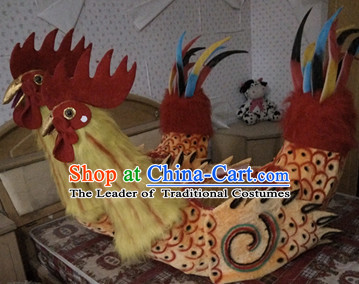 Handmade Rooster Costume Stage Performance Costumes for Men or Women