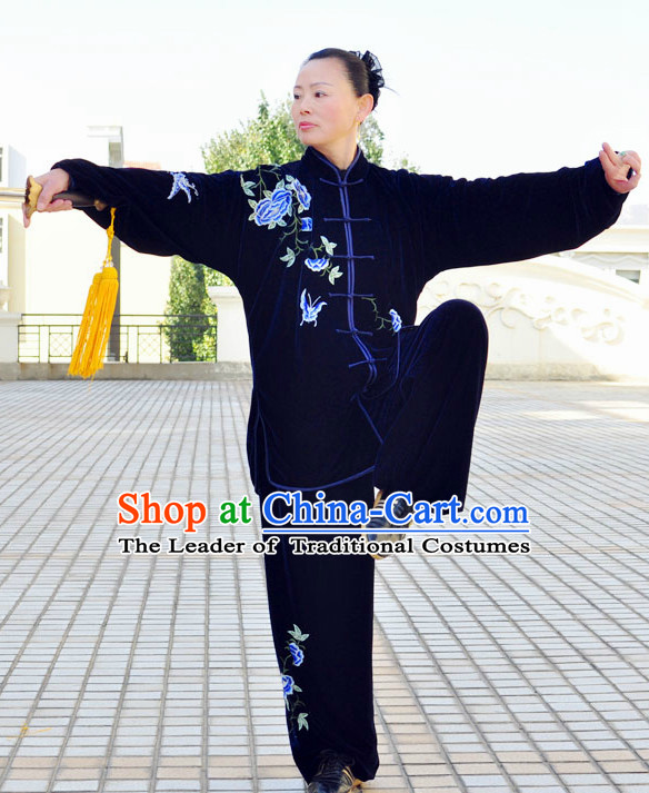 Tai Chi Pants Tai Chi Suit Apparel Suits Attire Robe Kung Fu Costume Chinese Kungfu Jacket Wear Dress Uniform Clothing Taijiquan Shaolin Chi Gong Taichi Suits