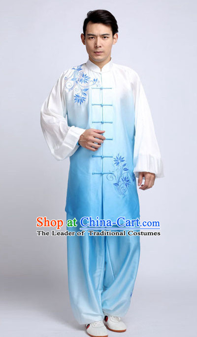 Top Tai Chi Pants Tai Chi Suit Apparel Suits Attire Robe Kung Fu Costume Chinese Kungfu Jacket Wear Dress Uniform Clothing Taijiquan Shaolin Chi Gong Taichi Suits for Men Women Kids
