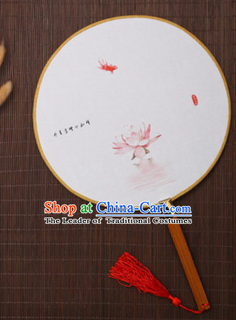 Chinese Traditional Classic Handmade Gong Shan Palace Fan Round Fan Mandarin Fan Dance Fan