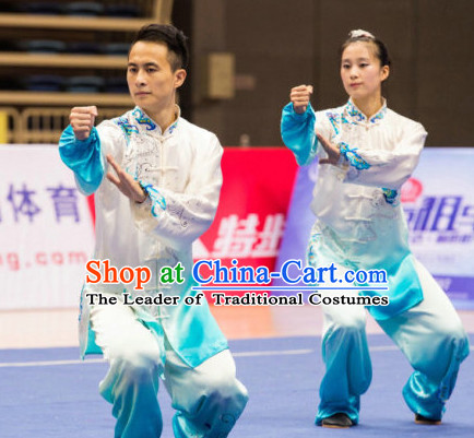 Top Color Changing Kung Fu Competition Championship Uniforms Pants Suit Taekwondo Apparel Karate Suits Attire Robe Championship Costume Chinese Kungfu Jacket Wear Dress Uniform Clothing Taijiquan Shaolin Chi Gong Taichi Suits for Men Women Kids