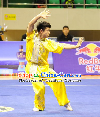 Top Kung Fu Competition Championship Uniforms Pants Suit Taekwondo Apparel Karate Suits Attire Robe Championship Costume Chinese Kungfu Jacket Wear Dress Uniform Clothing Taijiquan Shaolin Chi Gong Taichi Suits for Men Women Kids