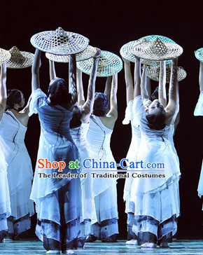 Chinese Stage Ethnic Dancing Dancewear Costumes Dancer Costumes Dance Costumes Chinese Dance Clothes Traditional Chinese Clothes Complete Set
