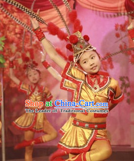 Chinese Stage Hua Mulan Dancing Dancewear Costumes Dancer Costumes Dance Costumes Chinese Dance Clothes Traditional Chinese Clothes Complete Set for Women Kids