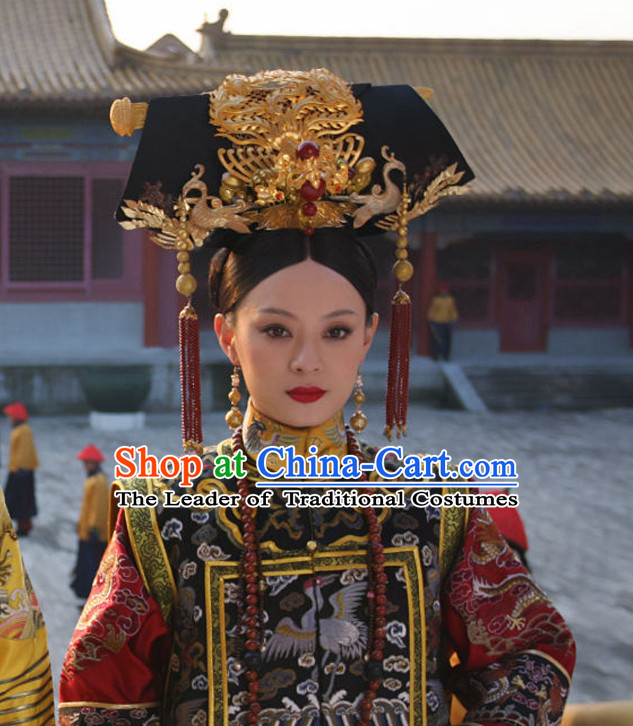 Chinese Qing Manchu Empress Phoenix Headwear Hair Accessories