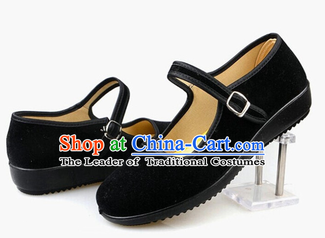 Top Black Chinese Traditional Tai Chi Shoes Kung Fu Shoes Martial Arts Shoes for Women