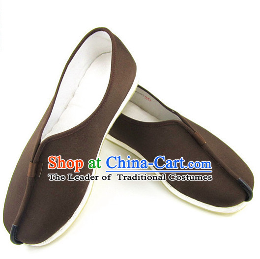 Top Chinese Coffee Traditional Tai Chi Shoes Kung Fu Shoes Martial Arts Shoes for Men or Women