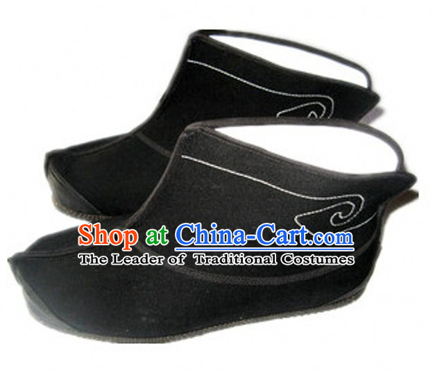 Top Chinese Classic Traditional Tai Chi Shoes Kung Fu Shoes Martial Arts Black Boots for Men