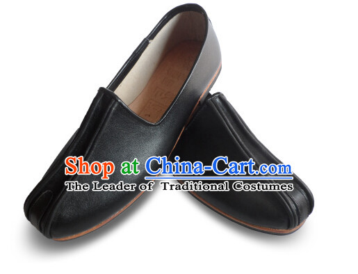 Top Chinese Classic Traditional Kungfu Master Tai Chi Shoes Kung Fu Shoes Martial Arts Leather Shoes