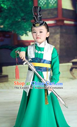 Chinese Traditional Ancient Kids Prince Hanfu Clothing
