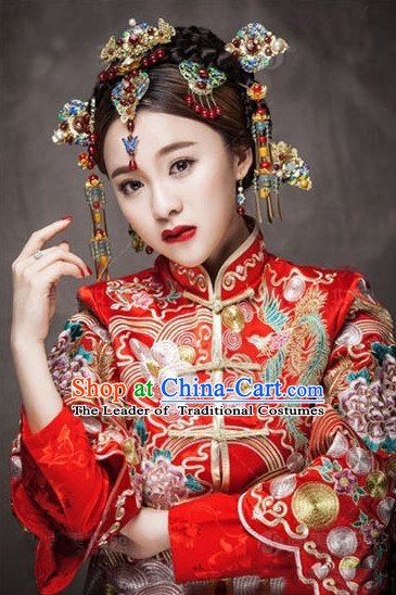 Chinese Classical Royal Wedding Headpieces Hair Jewelry Set