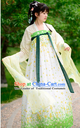 Top Chinese Tang Dynasty Hanfu Clothing Chinese Hanfu Costume Hanfu Dress Ancient Chinese Costumes Complete Set for Women Girls Children