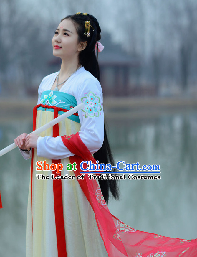 5669f18c1 Top Chinese Tang Dynasty Princess Hanfu Clothing Chinese Hanfu Costume  Hanfu Dress Ancient Chinese Costumes and Hat Complete Set for Women Girls  Children