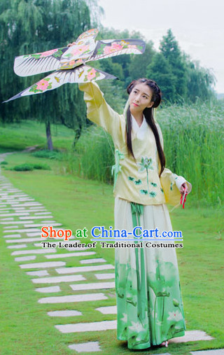 Top Chinese Ming Dynasty Beauty Hanfu Clothing Chinese Hanfu Costume Hanfu Dress Ancient Chinese Costumes and Hat Complete Set for Women Girls Children