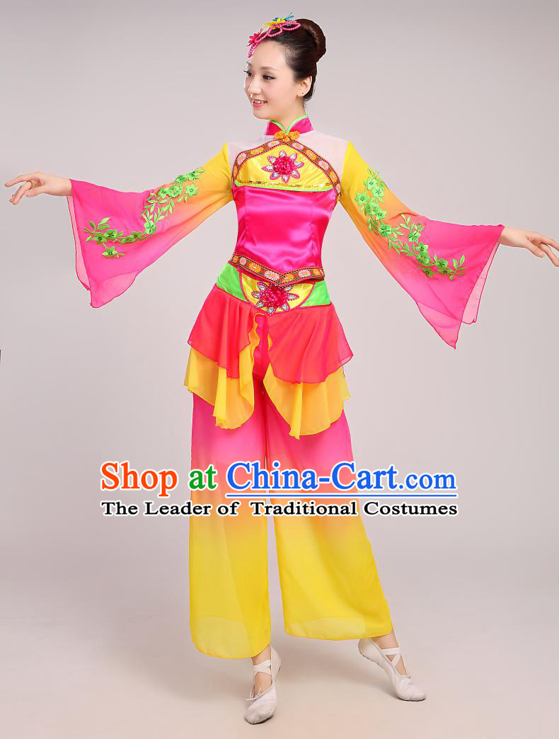 cf7dbf78d Chinese Folk Dance Costumes Traditional Chinese Fan Dancing Costume ...