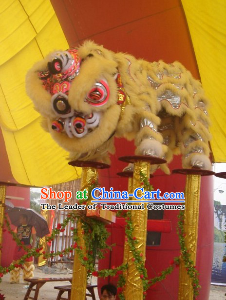 Modern Chinese Style Fut San Southern Lion Dance Equipments Complete Set