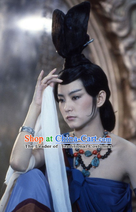 Ancient Chinese Fairy Black Wigs for Women