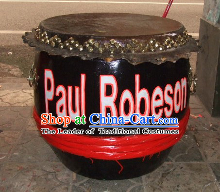 24 Inches Chinese Traditional Big Lion Dance Wooden Drum
