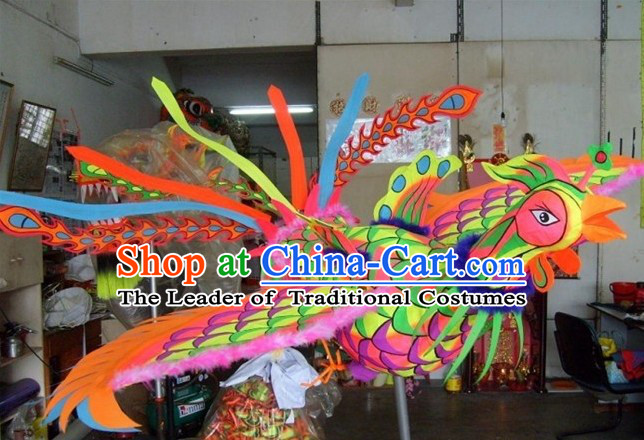 Traditional Chinese Big Celebration Super Big Phoenix Dance Parade Props