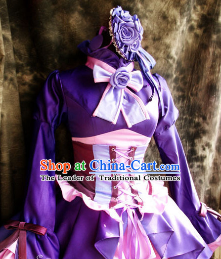 Custom Made Reborn Cosplay Costumes and Headwear Complete Set for Women or Girls