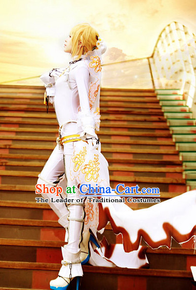Custom Made Fate/EXTRA CCC Cosplay Costumes and Headdress Complete Set for Women or Girls