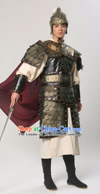 Chinese Ancient General Superhero Body Armor Costumes Complete Set for Men