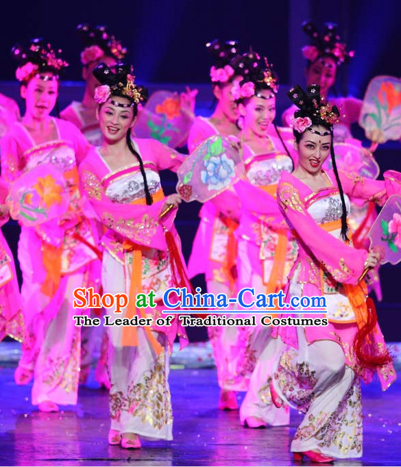 Chinese Stage Performance Hanfu Classical Dancing Costumes Complete Set for Women