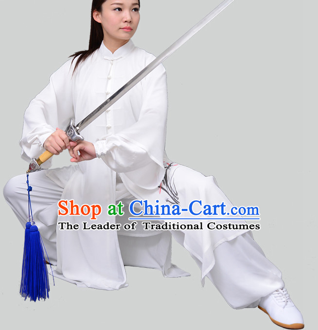 Top Chinese Traditional Competition Championship Tai Chi Taiji Teacher Suits Uniforms