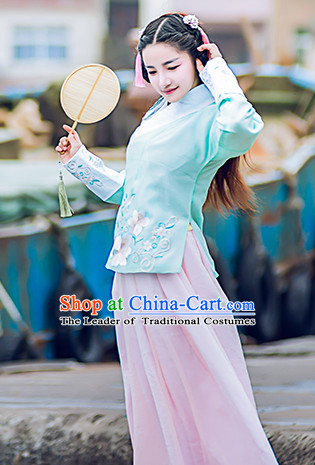 Traditional Chinese Ming Dynasty Dress Chinese Hanfu Clothing Cloth China Attire Oriental Dresses Complete Set for Women