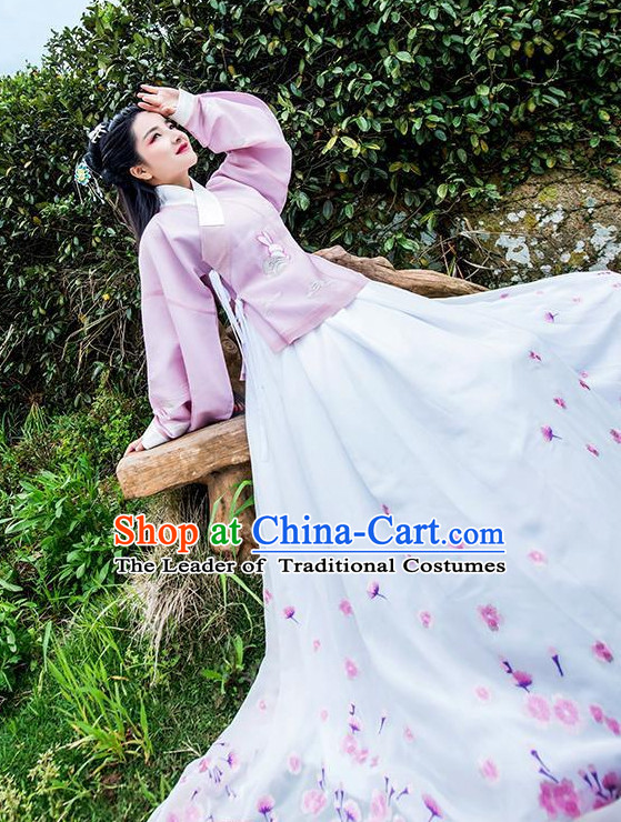 Traditional Chinese Song Dynasty Lady Dress Chinese Hanfu Clothing Cloth China Attire Oriental Dresses Complete Set for Women