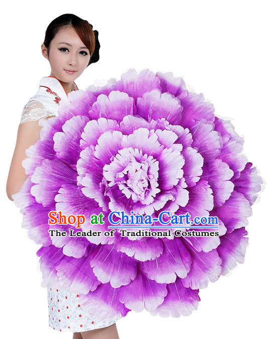 Light Purple Traditional Dance Peony Umbrella Props Flower Umbrellas Dancing Prop Decorations