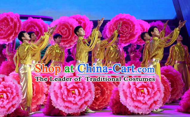 Traditional Dance Peony Umbrella Props Flower Umbrellas Dancing Prop Decorations for Women Men Adults