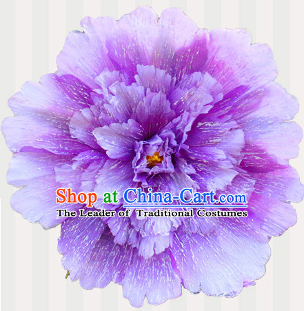 Purple Traditional Dance Peony Umbrella Props Flower Umbrellas Dancing Prop Decorations for Kids Children Girls Boys