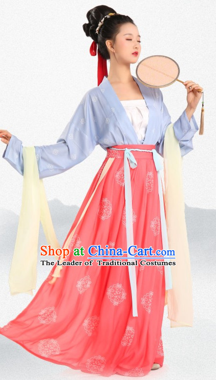 Chinese Traditional Clothing Hanfu Dresses Complete Set for Women